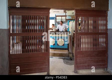 HAVANA, CUBA - CIRCA MAY 2016: Typical bar in Havana. - Stock Photo