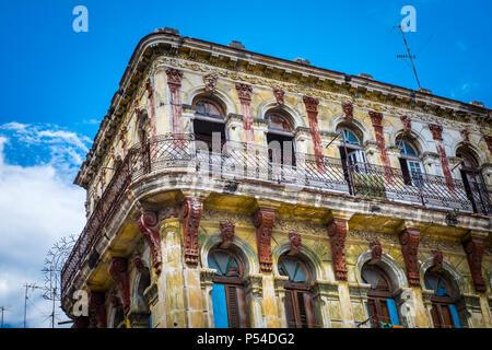 HAVANA, CUBA - CIRCA MAY 2016: Old building in Havana. - Stock Photo