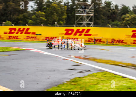 Mexico City, Mexico – September 01, 2017: Autodromo Hermanos Rodriguez. 6hrs of Mexico, FIA WEC. G-DRIVE RACING driver´s Roman Rusinov, Pierre Thiriet or Alex Lynn, at the Oreca 07 Gibson No. 26, running at the Free Practice I. - Stock Photo