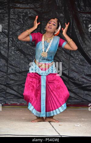 Bloomington, Illinois- USA - Jun 24,2018 - Ratha Yatra Festival in Bloomington Normal - Stock Photo
