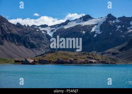 Leith Whaling Station, South Georgia Island, British Overseas Territories - Stock Photo