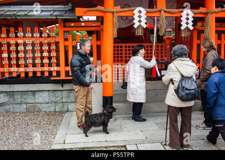 Fushimi Inari-Taisha sanctuary,Kyoto, Japan - Stock Photo