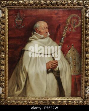 Peter Paul Rubens (1577-1640). Flemish painter. Matthaeus Yrsselius (1541-1629), Abbot of Sint-Michiel's Abbey in Antwerp, c.1624. National Museum of Art. Copenhagen. Denmark. - Stock Photo