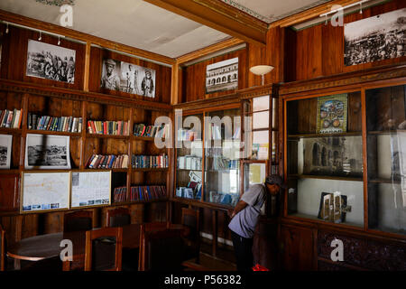 ETHIOPIA , Harar, Arthur Rimbaud House and museum, the french author lived here from 1854-1891 / AETHIOPIEN, Harar, Arthur Rimbaud Haus und Museum, 1854 bis 1891 lebte der beruehmte franzoesische Schriftsteller Arthur Rimbaud in Harar - Stock Photo
