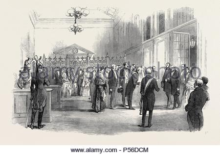 RECEPTION OF THE LORD MAYOR OF LONDON, AT THE RAILWAY TERMINUS AT PARIS. - Stock Photo
