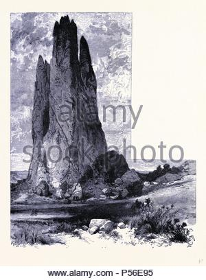 Tower Rock, Garden of the Gods, United States of America. - Stock Photo