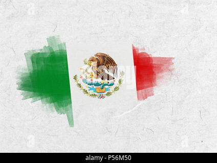 Composite image of mexico national flag - Stock Photo