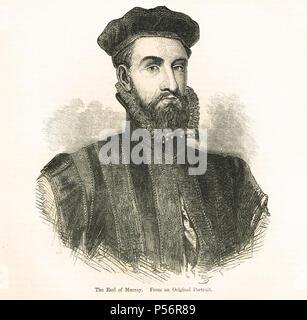 James Stewart, 1st Earl of Moray, Regent of Scotland - Stock Photo