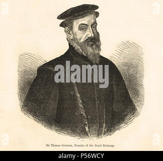Sir Thomas Gresham the Elder, English merchant and financier, who founded the Royal Exchange in London - Stock Photo