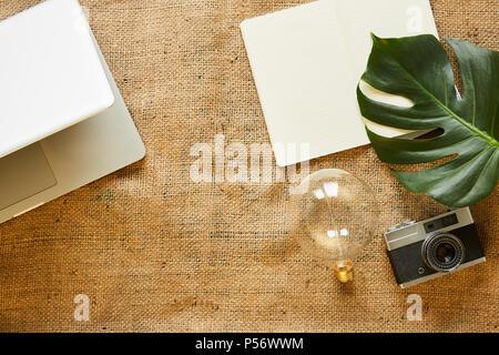 variety of urban objects lifestyle blog creative arangement - Stock Photo