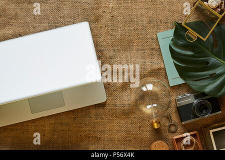 digital nomad urban hipster digital native lifestyle blog - Stock Photo