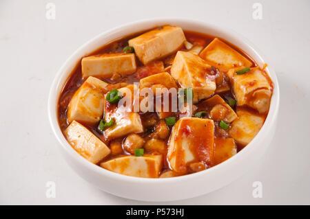 Mapo Tofu,Chinese cuisine - Stock Photo