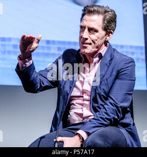 London, UK. 25th June, 2018. London, UK. 25th June, 2018. Rob Brydon appears on Mark Kermode Live in 3D on Monday 25 June 2018 held at BFI Southbank, London. Pictured: Rob Brydon. Credit: Julie Edwards/Alamy Live News - Stock Photo