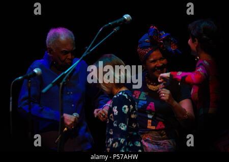 London, UK. 25th June, 2018. Gilberto Gil - Refavela 40 at LONDON Barbican Silk St, London, Uk on June 25, 2018. Credit: Picture Capital/Alamy Live News - Stock Photo