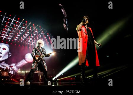 Assago Milan Italy 25 june 2018 Queen + Adam Lambert live at Mediolanum Forum © Roberto Finizio / Alamy Live News - Stock Photo