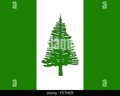 Official national flag of Norfolk Island - Stock Photo