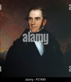 THOMAS COLE (1801-1848) English-born American painter in 1837 potrait by Asher Durand - Stock Photo