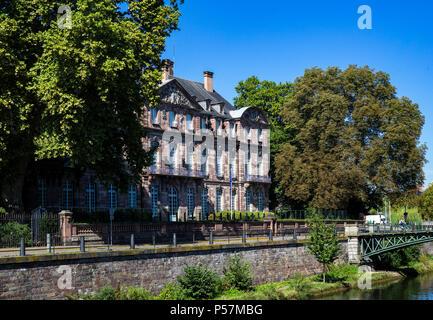 Strasbourg, ancient Hôtel de Klinglin 18th Century, currently Hôtel du Préfet du Bas-Rhin, Alsace, France, Europe, - Stock Photo