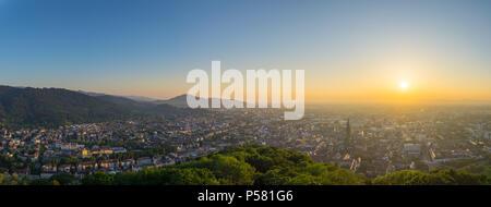 Germany, Freiburg im Breisgau from above XXL panorama