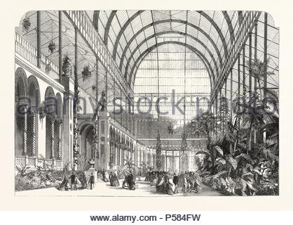OPENING OF THE HORTICULTURAL SOCIETY'S GARDENS: THE WINTER GARDEN. - Stock Photo