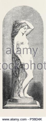'DAPHNE,' MARBLE STATUE, BY MARSHALL WOOD, THE INTERNATIONAL EXHIBITION, 1862. - Stock Photo