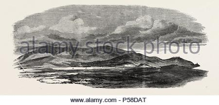 THE CRIMEAN WAR: THE SIEGE OF SEBASTOPOL: PORTION OF REDOUBT, OCCUPIED AND EVACUATED BY THE RUSSIANS, 1854. - Stock Photo