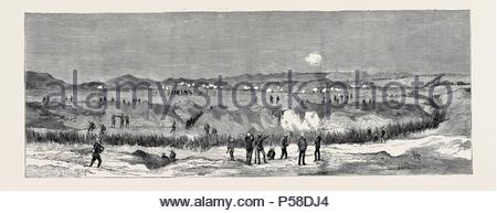 THE WAR IN EGYPT: THE ENGAGEMENT AT CHALOUF ON THE SUEZ CANAL, AUGUST 20. - Stock Photo