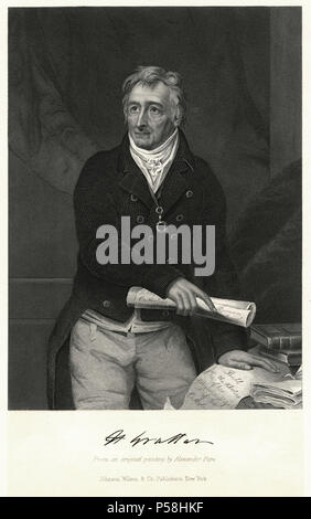 Henry Grattan (1746-1820), Irish Politician and Member of the Irish House of Commons, Engraving from an Original Painting by Alexander Pope - Stock Photo