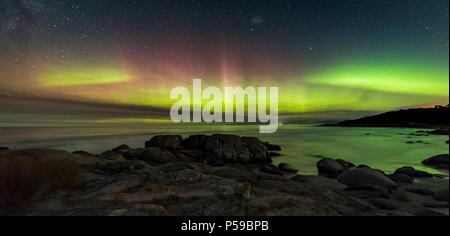 Double Arc Aurora Australis - Stock Photo