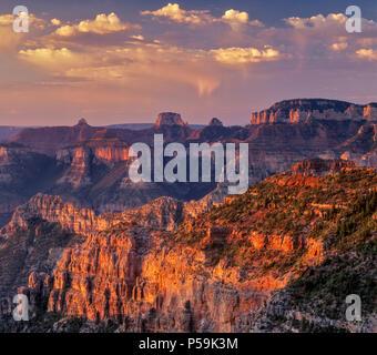 Sunrise, Nankoweap Canyon, Grand Canyon National Park, Arizona - Stock Photo