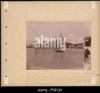 N/A. BPLDC no.: 08 04 000155 Page Title: Entrance to the Grand Canal Collection: William Vaughn Tupper Scrapbook Collection Album: Volume 44: Venice. Call no.: 4098B.104 v44 (p. 8) Creator: Tupper, William Vaughn Photograph attributed to Paolo Salviati, but it is almost certainly by Carlo Naya.   Carlo Naya  (1816–1882)     Alternative names C. Naya; Timm Naya  Description Italian photographer  Date of birth/death 25 August 1816 30 May 1882  Location of birth/death Tronzano Vercellese Venice  Work location Venice  Authority control  : Q449754 VIAF:49388599 ISNI:0000 0001 2132 1717 ULAN:5000115 - Stock Photo