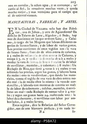 N/A. Español: Es un escaneo de la revista 'Correo General de España' que versa sobre Villena . 1771. Marino Nipho 382 Correo.1771-02-22--203