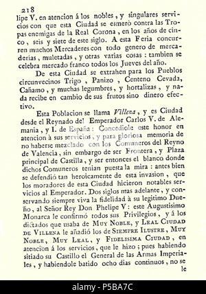 N/A. Español: Es un escaneo de la revista 'Correo General de España' que versa sobre Villena . 1771. Marino Nipho 382 Correo.1771-02-26--218