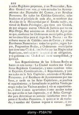 N/A. Español: Es un escaneo de la revista 'Correo General de España' que versa sobre Villena . 1771. Marino Nipho 382 Correo.1771-02-26--222