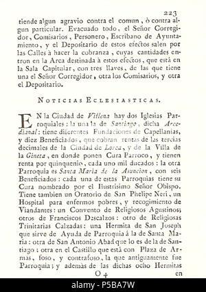 N/A. Español: Es un escaneo de la revista 'Correo General de España' que versa sobre Villena . 1771. Marino Nipho 382 Correo.1771-02-26--223