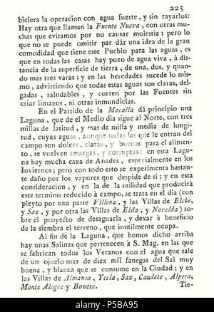 N/A. Español: Es un escaneo de la revista 'Correo General de España' que versa sobre Villena . 1771. Marino Nipho 382 Correo.1771-02-26--225