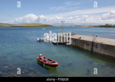 The harbour near Kildamhnait Castle on Achill Island in County Mayo, Ireland - Stock Photo