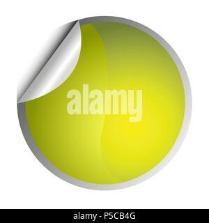 Yellow sticker - Stock Photo
