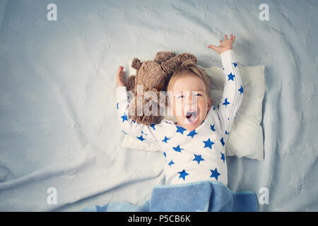 One year old baby crying - Stock Photo