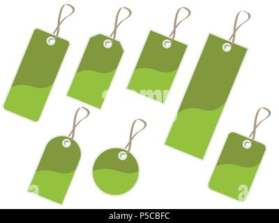 Green tags - Stock Photo