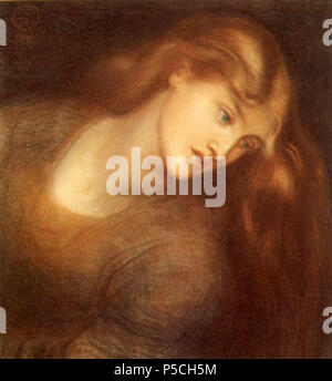 N/A.  English: Aspecta Medusa (model: Alexa Wilding . circa 1867. N/A 412 Dante gabriel rossetti aspecta medusa - Stock Photo