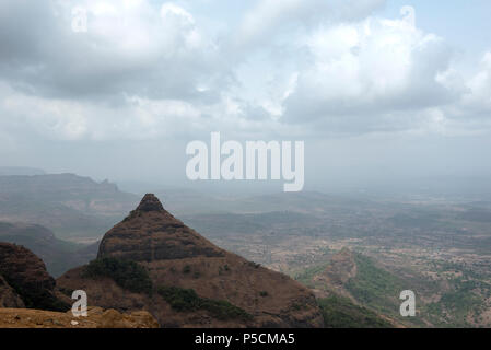 Beautiful View of Lonavala Mountain in summer days - Stock Photo