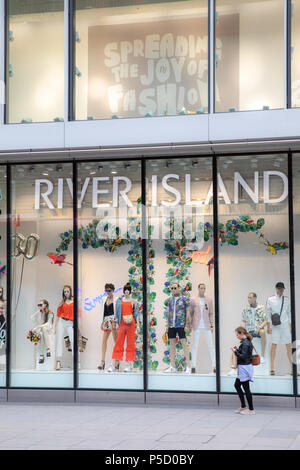 River Island store in Oxford Street, London, Uk - Stock Photo