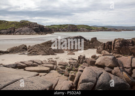 Cloughglass Beach in the Rosses on the coast of County Donegal in Ireland - Stock Photo