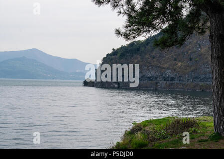 view on iseo lake - Stock Photo