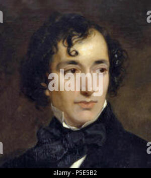 N/A. English: Benjamin Disraeli painted by Francis Grant in 1852 when the subject was 48, but depicting him as a young man in the costume of the 1820s. . Sir Francis Grant (1803–1878). Tim riley at English  458 Dizzy-grant - Stock Photo