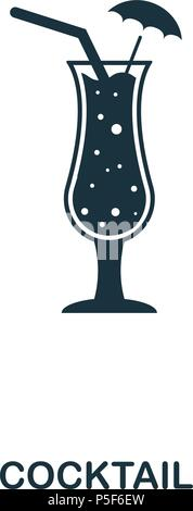 Cocktail icon. Line style icon design. UI. Illustration of cocktail icon. Pictogram isolated on white. Ready to use in web design, apps, software, print. - Stock Photo