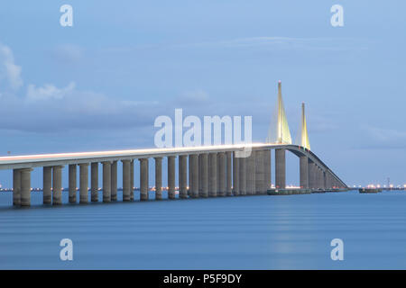 Sunshine Skyway Bridge - Stock Photo