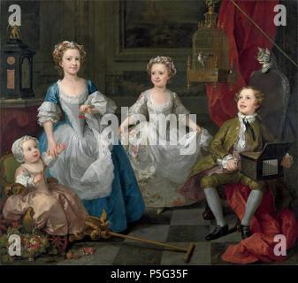 The Graham Children  1742. N/A 22 William Hogarth 047 - Stock Photo
