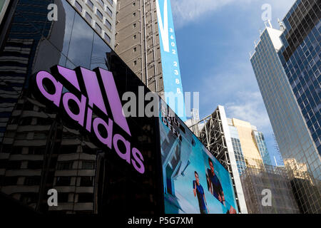 HONG KONG - JUNE 02, 2018: Adidas shop store in Causeway Bay Hong Kong - Stock Photo